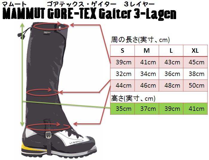 ゴアテックス ゲイター(GORE-TEX Gaiter 3-Lagen) - マムート(mammut)