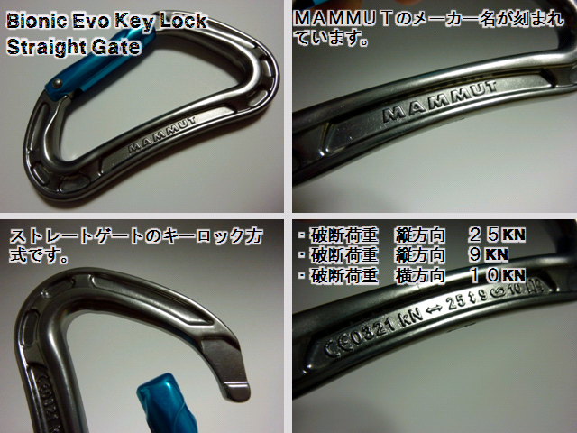 Bionic Evo Key Lock Straight gate - マムート(mammut)