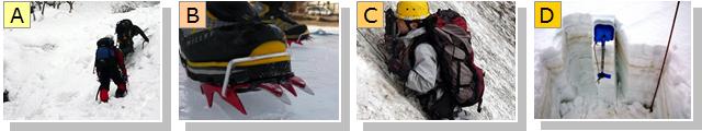 雪山の登山技術についての説明