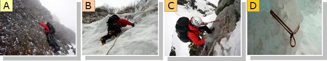 雪山登攀技術の説明