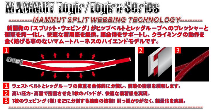 MAMMUT SPLIT WEBBING TECHNOLOGY-
