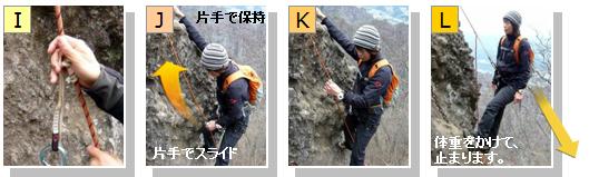 フリクションノットで自己確保しながらの登り方