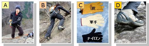 登山のためのクライミングウェアやギア